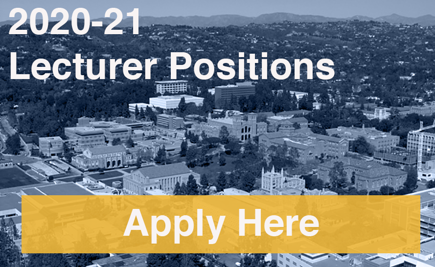 Lecturer Positions 2020-21